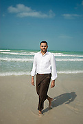 Aneesh Sharma, Brand Consultant at Landor Associates, Dubai poses for a portrait on Jumeirah Beach, Dubai on Saturday, January 3, 2009.