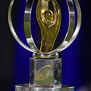 The IRB Junior World Championship trophy on display during the Australia V New Zealand Final match at the IRB Junior World Championships in Argentina. New Zealand won the match 62-17 at Estadio El Coloso del Parque, Rosario, Argentina,. 21st June 2010. Photo Tim Clayton....