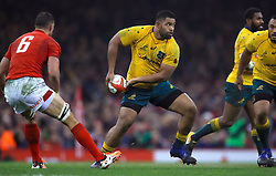 Australia's Samu Kerevi in action