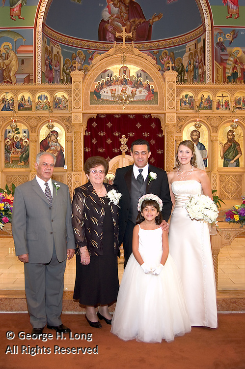 The wedding of Maria Haskell and Aris Kyriakides on September 25, 2004.