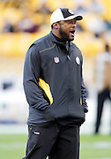 Pittsburgh Steelers head coach Mike Tomlin calls out during the NFL week 16 football game against the St. Louis Rams on Saturday, December 24, 2011 in Pittsburgh, Pennsylvania. The Steelers won the game in a 27-0 shutout. ©Paul Anthony Spinelli