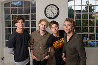 5 Seconds of Summer - abbreviated as 5SOS - is an Australian pop punk band from Sydney that started in 2011. From Left to Right: Calum Hood,Michael Clifford Luke Hemmings, Ashton Irwin.