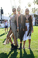 Devon Windsor, Rachel Hilbert and Anouk van Kleef at Coachella FW2016