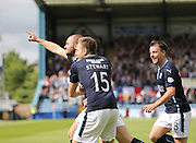 James McPake is is congratulated after scoring by Greg Stewart after scoring - Dundee v Celtic SPFL Premiership at Dens Park<br /> <br />  - &copy; David Young - www.davidyoungphoto.co.uk - email: davidyoungphoto@gmail.com
