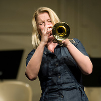 Gene Harris Jazz Festival, Jazz Clinic with Bria Skonberg, Allison Corona photo.