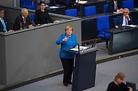 DEU, Deutschland, Germany, Berlin, 11.09.2019: Bundeskanzlerin Dr. Angela Merkel (CDU) bei einer Rede während einer Plenarsitzung im Deutschen Bundestag.