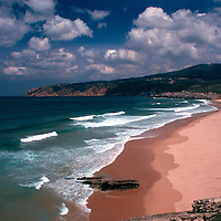 Europe, Portugal, Estoril. Praia de Guincho, a popular surfing beach along the Estoril coast north of Cascais.