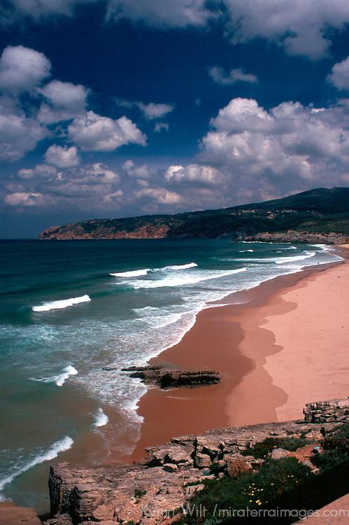 Europe, Portugal, Estoril. Praia de Guincho, a popular surfing beach along the Estoril coast north of Cascais.