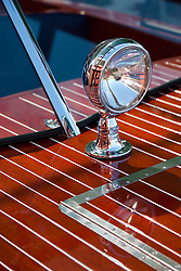 """Wooden Boat on Lake Tahoe 3"" - This abstract photo of a classic wood boat was taken at the 2011 Tahoe Concours d'Elegance."