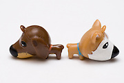 Puppy Love - Anger a conceptual image of two toy dogs in an intimate relationship