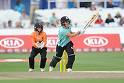 Natalie Sciver of Surrey Stars batting during the Women's Cricket Super League match between Southern Vipers and Surrey Stars at the 1st Central County Ground, Hove, United Kingdom on 14 August 2018.