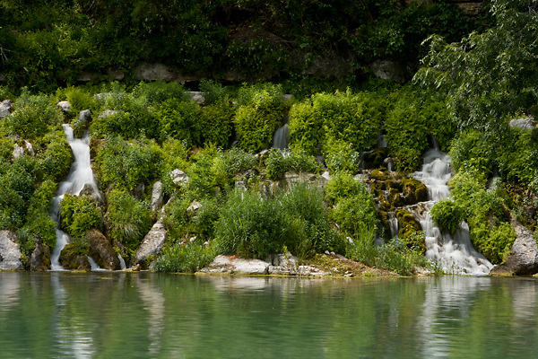 Stock photo of the head natural springs of the Llano River in the Texas Hill Country