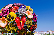 Flower sculpture in Antonin poncet square, Lyon, France (UNESCO World Heritage Site)
