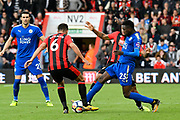 Andrew Surman (6) of AFC Bournemouth battles for possession with Wilfred Ndidi (25) of Leicester City during the Premier League match between Bournemouth and Leicester City at the Vitality Stadium, Bournemouth, England on 30 September 2017. Photo by Graham Hunt.