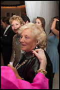 DAME VIVIEN DUFFIELD, Cartier dinner in celebration of the Chelsea Flower Show. The Palm Court at the Hurlingham Club, London. 19 May 2014.