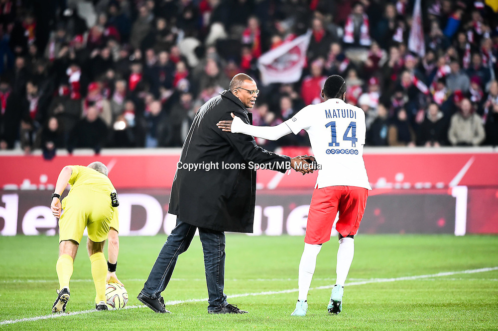 Bernard LAMA / Blaise MATUIDI - 03.12.2014 - Lille / Paris Saint Germain - 16eme journee de Ligue 1<br />Photo : Fred Porcu / Icon Sport