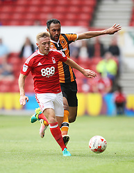 Ben Osborn of Nottingham Forest (L) and Ahmed Elmohamady of Hull City in action - Mandatory by-line: Jack Phillips/JMP - 30/07/2016 - FOOTBALL - The City Ground - Nottingham, England - Nottingham Forest v Hull City - Pre-Season Friendly