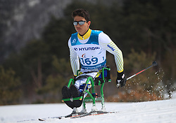 Brazil's Cristian Ribera competes in the Men's 7.5km, Sitting Cross Country Skiing, at the Alpensia Biathlon Centre during day eight of the PyeongChang 2018 Winter Paralympics in South Korea