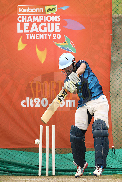 Farhaan Behardien of the Titans during the Titans practice session held as part of the  Karbonn Smart CLT20 South Africa held at Supersport Park Stadium in Centurion, South Africa on the 25rd October 2012..Photo by Shaun Roy/SPORTZPICS/CLT20
