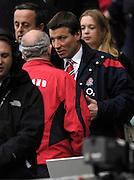 Twickenham. GREAT BRITAIN, Right Rob ANDREW, chats with Brian ASHTON, before  the, 2006 Investec Challenge, game between, England  and Argentina, on Sat., 11/11/2006, played at the Twickenham Stadium, England. Photo, Peter Spurrier/Intersport-images].....