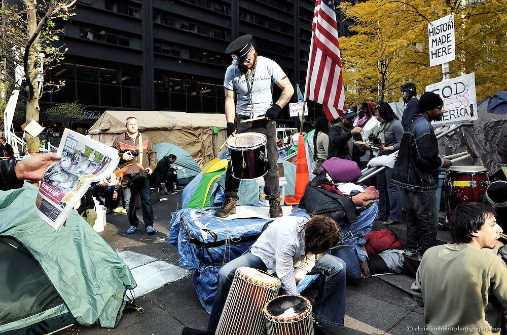 14. November 2011,  Zuccotti Park NY