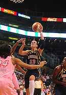 Aug 8, 2010; Phoenix, AZ, USA; Indiana Fever guard Katie Douglas puts up a basket during the first half in at US Airways Center.  Mandatory Credit: Jennifer Stewart-US PRESSWIRE