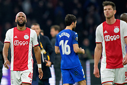 Ryan Babel #49 of Ajax after the Europa League match R32 second leg between Ajax and Getafe at Johan Cruyff Arena on February 27, 2020 in Amsterdam, Netherlands
