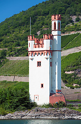 Historic Mauseturm or Mouse Tower at Bingen on River Rhine in Germany