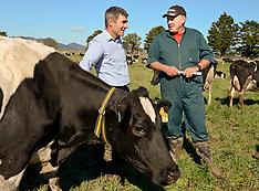 Northland-Primary Industries Minister Nathan Guy visits flood damaged Hikurangi farms