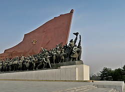 THEMENBILD - Die Demokratische Volksrepublik Korea. Democratic People's Republic of Korea (DPRK), bekannt als Nordkorea, ist ein Staat in Ostasien. Er wurde am 9. September 1948 proklamiert und umfasst den nördlichen Teil der Koreanischen Halbinsel. Nordkorea, obwohl offiziell als Demokratische Volksrepublik bezeichnet, wird diktatorisch regiert und gilt als das weltweit restriktivste politische System der Gegenwart. Hier im Bild Kunstwerk im Moranbong Park // North Korea, officially the Democratic People's Republic of Korea (abbreviated DPRK), is a country in East Asia constituting the northern part of the Korean Peninsula. Pyongyang is the nation's capital and largest city. To the north and northwest, the country is bordered by China and by Russia along the Amnok (known as the Yalu in China) and Tumen rivers it is bordered to the south by South Korea, with the heavily fortified Korean Demilitarized Zone (DMZ) separating the two. Nevertheless, North Korea, like its southern counterpart, claims to be the legitimate government of the entire peninsula. EXPA Pictures © 2018, PhotoCredit: EXPA/ MMO