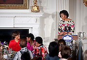 May 7,2010 - Washington, District of Columbia USA - First Lady Michelle Obama shares a smile with her mother, Marian Robinson, during a Mother's Day event she hosted in the State Dining Room of the White House. Mrs. Obama welcomed Former First Lady Rosalyn Carter and her granddaughter Sarah Carter, Tricia Nixon Cox, and Susan and Anne Eisenhower back to the White House. Guests also included spouses and mothers of troops and young women from Mrs. Obama's mentoring program, who were accompanied by notable women in their lives.. (Credit Image: © Pete Marovich/ZUMA Press)