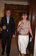 Mr. and Mrs. Griff Rhys Jones, Sothebys's Summer party, 7 June 2004. ONE TIME USE ONLY - DO NOT ARCHIVE  © Copyright Photograph by Dafydd Jones 66 Stockwell Park Rd. London SW9 0DA Tel 020 7733 0108 www.dafjones.com