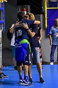 Gianmarco Pozzecco, Elena<br /> Banco di Sardegna Dinamo Sassari - A|X Armani Exchange Olimpia Milano<br /> 9° International Basketball Tournament City of Cagliari<br /> Cagliari, 14/09/2019<br /> Foto L.Canu / Ciamillo-Castoria