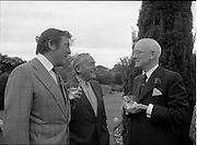 06/09/1978<br /> 09/06/1978<br /> 06 September 1978<br /> Reception for Mr. Sean Donlon, New Irish Ambassador to the United States, at the U.S. Embassy Residence, Phoenix Park, Dublin. Michael Scott, centre.