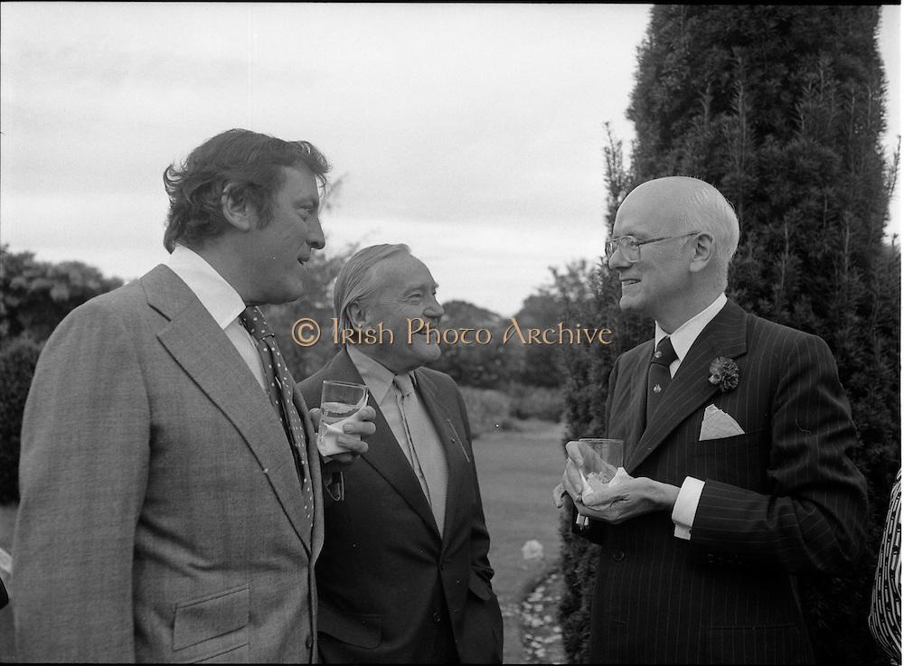 06/09/1978<br /> 09/06/1978<br /> 06 September 1978<br /> Reception for Mr. Sean Donlon, New Irish Ambassador to the United States, at the U.S. Embassy Residence, Phoenix Park, Dublin. Michael Scott, centre.