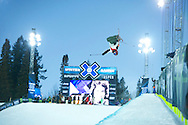 Thomas Krief during Ski Superpipe Practice at 2014 X Games Aspen at Buttermilk Mountain in Aspen, CO. ©Brett Wilhelm/ESPN
