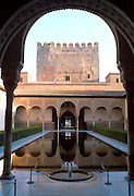 SPAIN, ANDALUSIA, GRANADA Alhambra; Hall of Ambassadors