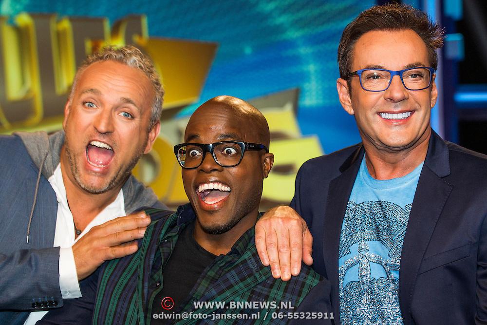 NLD/Amsterdam/20140415 - Presentatie Alles Mag op Vrijdag, Gordon Heuckeroth, Jandino Asporaat en Gerard Joling
