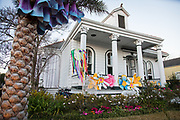Mardi Gras 2015: home of Stacy Hoover, Wonderland, at 3405 Royal Street, in the Bywater neighborhood of New Orleans