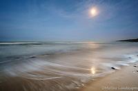 Moonlight reflection on Omaha Beach<br /> <br /> Available Sizes: 7x11, 13x19, 16x24
