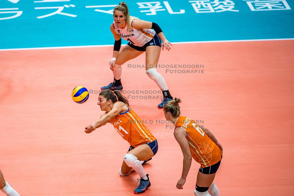 19-10-2018 JPN: Semi Final World Championship Volleyball Women day 18, Yokohama<br /> Serbia - Netherlands / Anne Buijs #11 of Netherlands