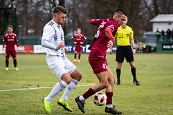Amadej Marosa of NS Mura nad David Tijanic of NK Triglav Kranj during football match between NŠ Mura and NK Triglav in 19th Round of Prva liga Telekom Slovenije 2018/19, on December 9, 2018 in Fazanerija, Murska Sobota, Slovenia. Photo by Blaž Weindorfer / Sportida