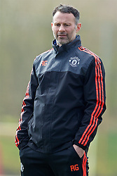 MANCHESTER, ENGLAND - Wednesday, March 16, 2016: Manchester United's coach Ryan Giggs during a training session at Carrington Training Ground ahead of the UEFA Europa League Round of 16 2nd Leg match against Liverpool. (Pic by David Rawcliffe/Propaganda)