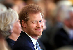 Prince Harry during a visit to the Leeds Leads: Encouraging Happy Young Minds event, a charity fair and panel discussion aimed at highlighting the issues that affect the mental well-being of young people in the city and how organisations can support future generations.