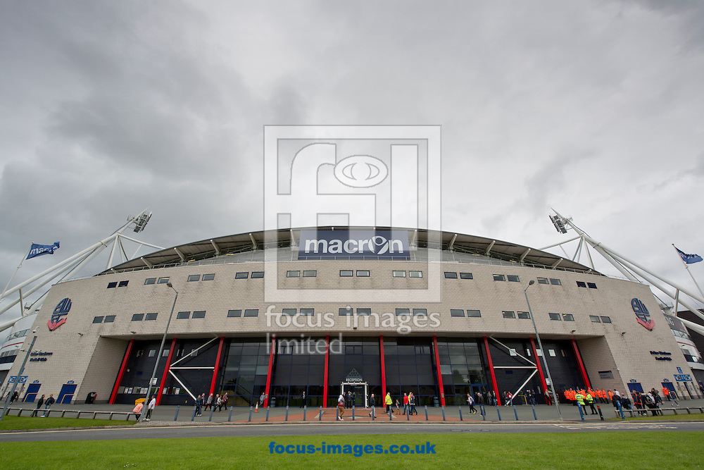 A general view of the Macron Stadium (formerly Reebok Stadium) before the Sky Bet Championship match at the Macron Stadium, Bolton<br /> Picture by Russell Hart/Focus Images Ltd 07791 688 420<br /> 16/08/2014