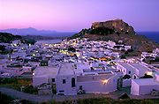 Overlooking Lindos on the Isle of Rhodes, Greece