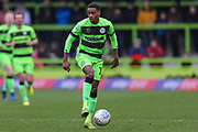 Forest Green Rovers Reece Brown(10) on the ball during the EFL Sky Bet League 2 match between Forest Green Rovers and Carlisle United at the New Lawn, Forest Green, United Kingdom on 16 March 2019.