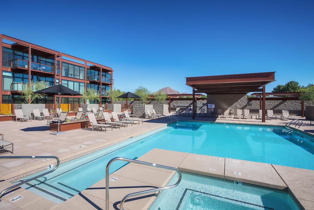 The pool at the Domus apartment complex in Phoenix Arizona