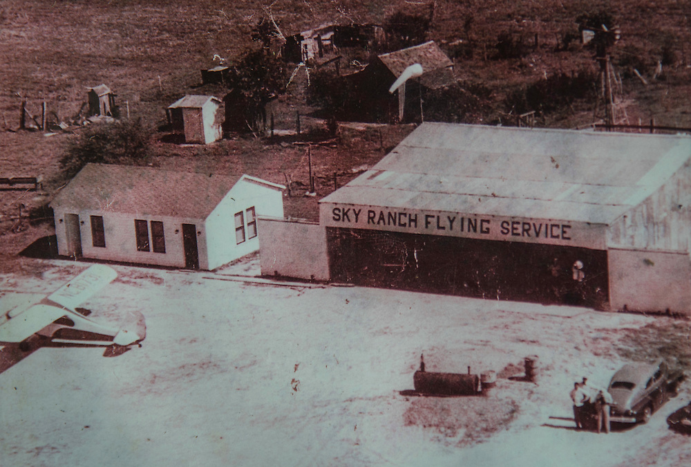 Historic photograph of the Sky Ranch Flying Service, February 24, 2017.