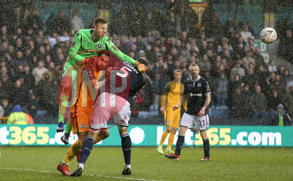 David Martin of Millwall punches clear - Mandatory by-line: Arron Gent/JMP - 17/03/2019 - FOOTBALL - The Den - London, England - Millwall v Brighton and Hove Albion - Emirates FA Cup Quarter Final